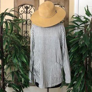 Ecote striped long sleeve shirt